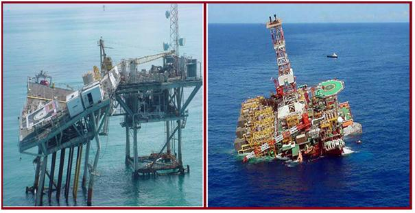 Fig. 1: Damaged Offshore Structure